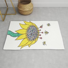 Bees at Work Rug