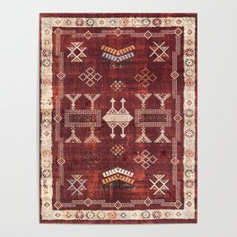 N252 - Bohemian Oriental Heritage Berber Moroccan Style Poster
