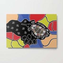 Authentic Aboriginal Art – Echidna Dreaming Metal Print