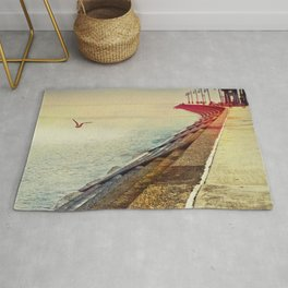 Breakwater on Lake Ponchartrain Rug