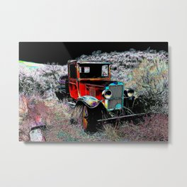 Forgotten - Old Vintage Truck Metal Print