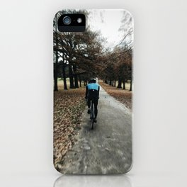 cycling in wollanton park iPhone Case