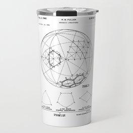 Buckminster Fuller 1961 Geodesic Structures Patent Travel Mug