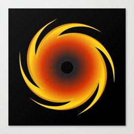 Black Hole Space Graphic Canvas Print