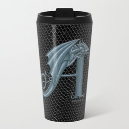 Dragon Letter A, from Dracoserific, a font full of Dragons. Travel Mug