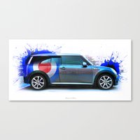 mini cooper Canvas Prints featuring Cars: Mini Cooper S by Urbex :: Siam