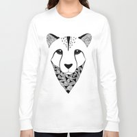 cheetah Long Sleeve T-shirts featuring Cheetah by Art & Be