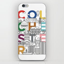 Colchester Town - Typoline Cities iPhone Skin
