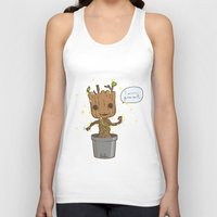 groot Tank Tops featuring Groot by Lalu - Laura Vargas
