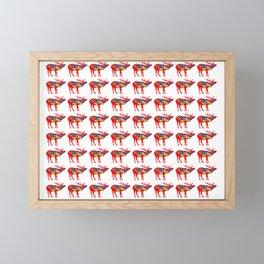 Graphic Dala Elk Multiples Framed Mini Art Print