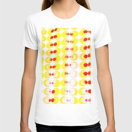 Fabric with yellow circles T-shirt