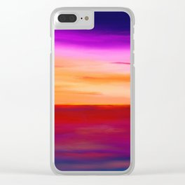 Painted Sunset Reflections Clear iPhone Case