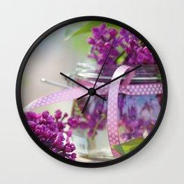Lilac Spring Still life Wall Clock