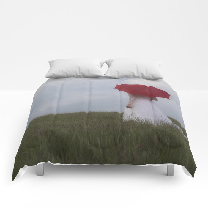 Red and White I Comforters
