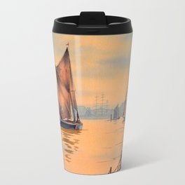 Thames Barges At Greenwich London Travel Mug