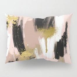 Blush and Gold Abstract Pillow Sham