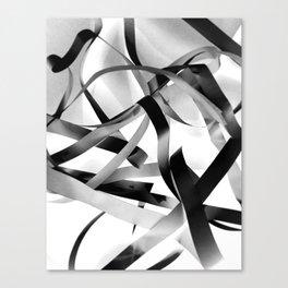 Black paper stripes Canvas Print