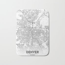Minimal City Maps - Map Of Denver, Colorado, United States Bath Mat