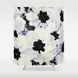 Black and White Floral with a Whisper of Color Shower Curtain