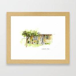 Across from the Coop Framed Art Print