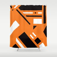 broadway Shower Curtains featuring 7av. Broadway by Michal Gorelick