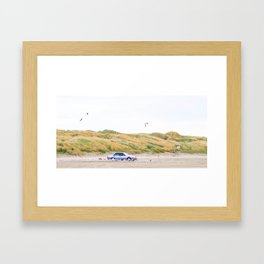 Feeding the Seagulls Framed Art Print