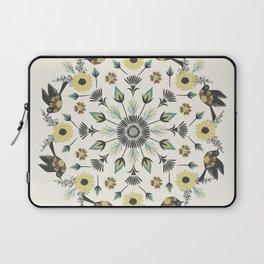 Blackbird Floral Mandala Laptop Sleeve