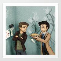pie Art Prints featuring Pie by Phantasmic Dream