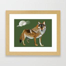 Totem Carpathian wolf Framed Art Print