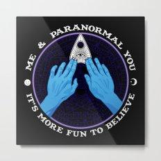Me & Paranormal You - James Roper Design - Ouija (white lettering) Metal Print