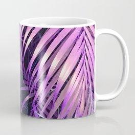 Rain Forest Jungle Purple-Pink Palm Leaves Coffee Mug
