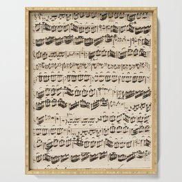 Johann Sebastian Bach (1685 – 1750) original music sheet Serving Tray
