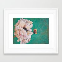 poem Framed Art Prints featuring butterfly poem by Erika