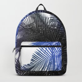 Blue and Gray fern Backpack