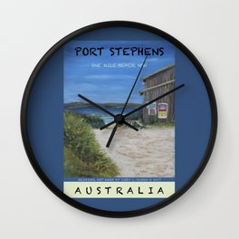 Travel Poster One Mile, NSW Wall Clock