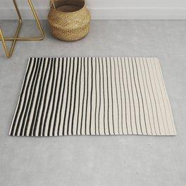 Black Horizontal Lines Rug