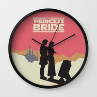 princess bride Wall Clocks featuring The Princess Bride by mattranzetta