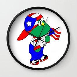 Puertorican Coqui Logo Wall Clock