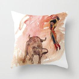 Bullfighter Throw Pillow