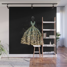 Evening Gown Fashion Illustration #3 Wall Mural