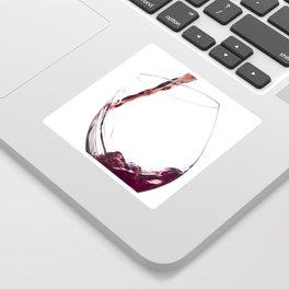 Elegant Red Wine Photo Sticker