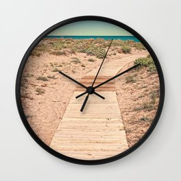 A Beautiful Spring Day at the Beach Wall Clock