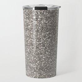 Silver Glitter I Travel Mug