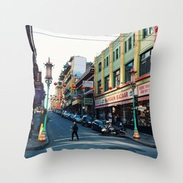 Streets of Chinatown Throw Pillow
