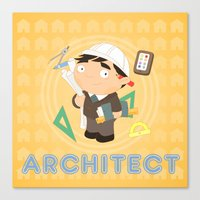 architect Canvas Prints featuring Architect by Alapapaju