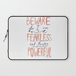 BEWARE, FEARLESS, POWERFUL: FRANKENSTEIN by MARY SHELLEY Laptop Sleeve