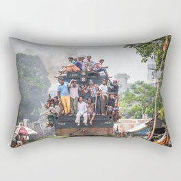 Train in the kitchen Rectangular Pillow
