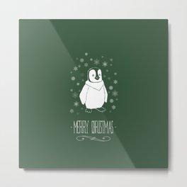 Christmas - Penguin Metal Print