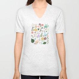 Springtime In The Bunny Garden Of Floral Delights Unisex V-Neck