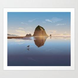 Haystack Rock at Cannon Beach - Simpler Art Print